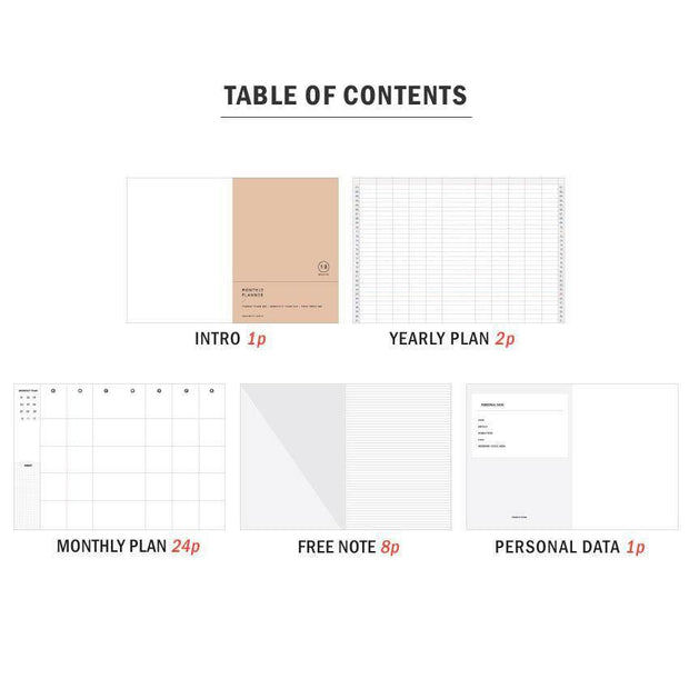 Iconic – Monthly Planner Silhouette – Planificador Mensual A6 (10,5 x 14,5cm)