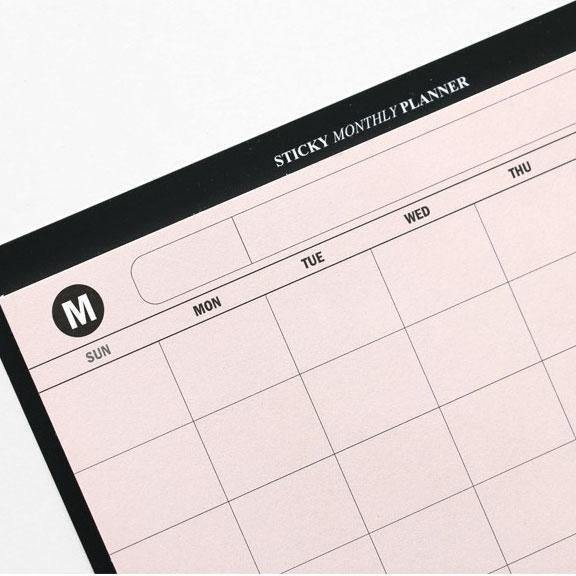 Iconic – Sticky Monthly Planner – Planificador Mensual adhesivo (14,5 x 9,5 cm)