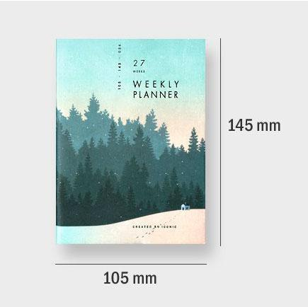 Iconic – Weekly Planner Train – Planificador Semanal A6 (10,5 x 14,5cm)