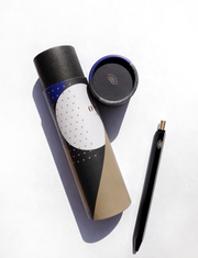 Ink & Osprey – Black Hexagon Pen -  Bolígrafo de acero (17cm)