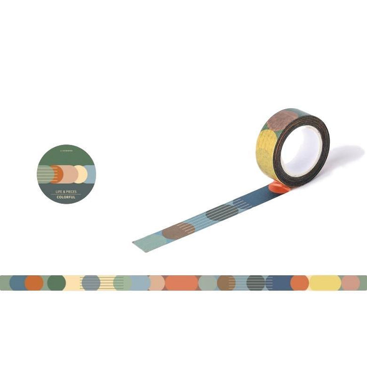 Livework – Life & Pieces Masking Tape – Colourfull (10 m)