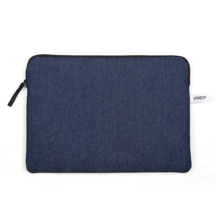 Pijama – Zip Case Dark Blue Denim – Funda Ordenador & Portadocumentos A4 (32 x 22cm)