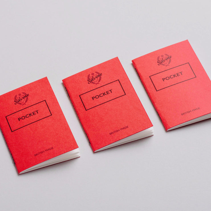 Pack de 3 libretas rojas A6 pocket de Silvine Originals