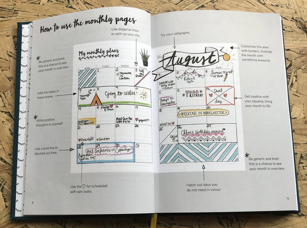 The Positive Planner – Bullet Diary – Planificador semanal A5 (15,2 x 21,8 cm)