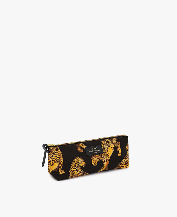 Wouf - Black Leopard Pencil Case - Estuche (21,5 x 9 x 3,5 cm)