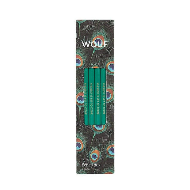 Wouf - Peacock Pencil Case - Estuche (21,5 x 9 x 3,5 cm)