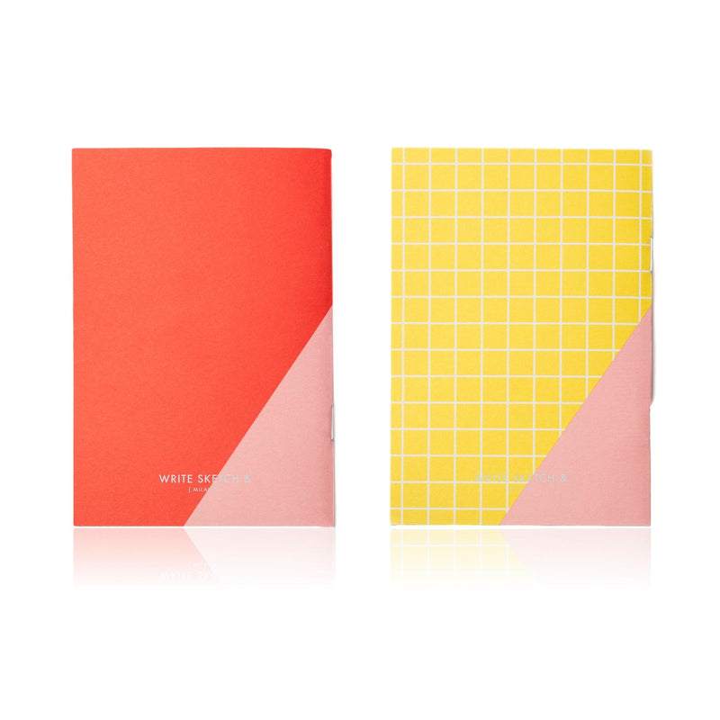 Write Sketch & - Super! Tile - Set de 2 Libretas Lisas A6 (10,5 x 15cm)