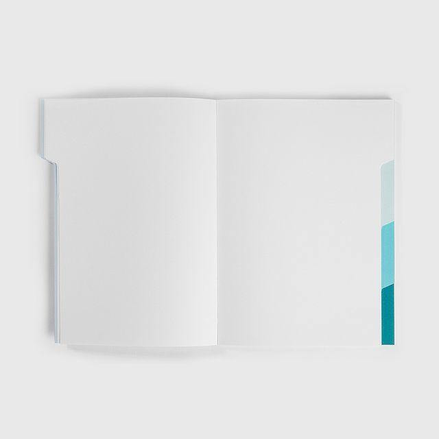 Mishmash – The Notebook shades of blue - Cuaderno Liso A5 (18,5 x 25,7cm)