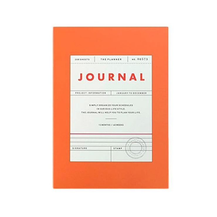 Seeso Graphics – Vintage Journal Orange – Planificador semanal y mensual A6 (11,5 x 16 cm)