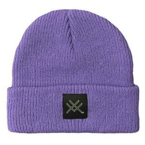 Purple Short Beanie