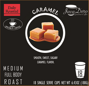 Caramel Flavored Coffee Pods - 18 Count