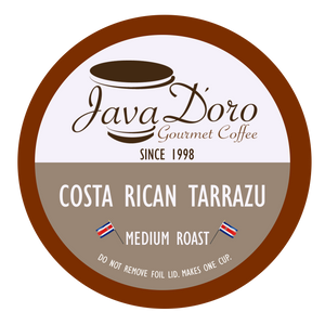 Costa Rican Tarrazu Coffee Pods - 18 Count