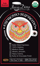 Load image into Gallery viewer, Organic Espresso Supremo | Java D'oro Gourmet Coffee Roasters