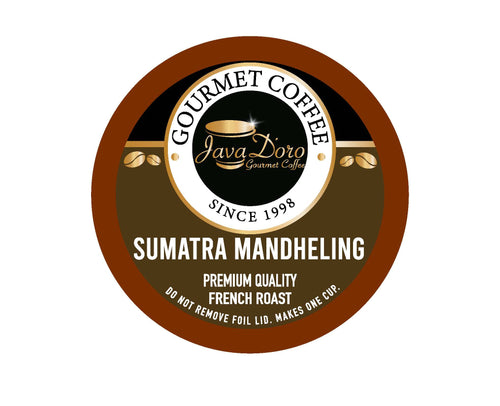 Sumatra Mandheling French Roast Coffee Pods - 18 Count