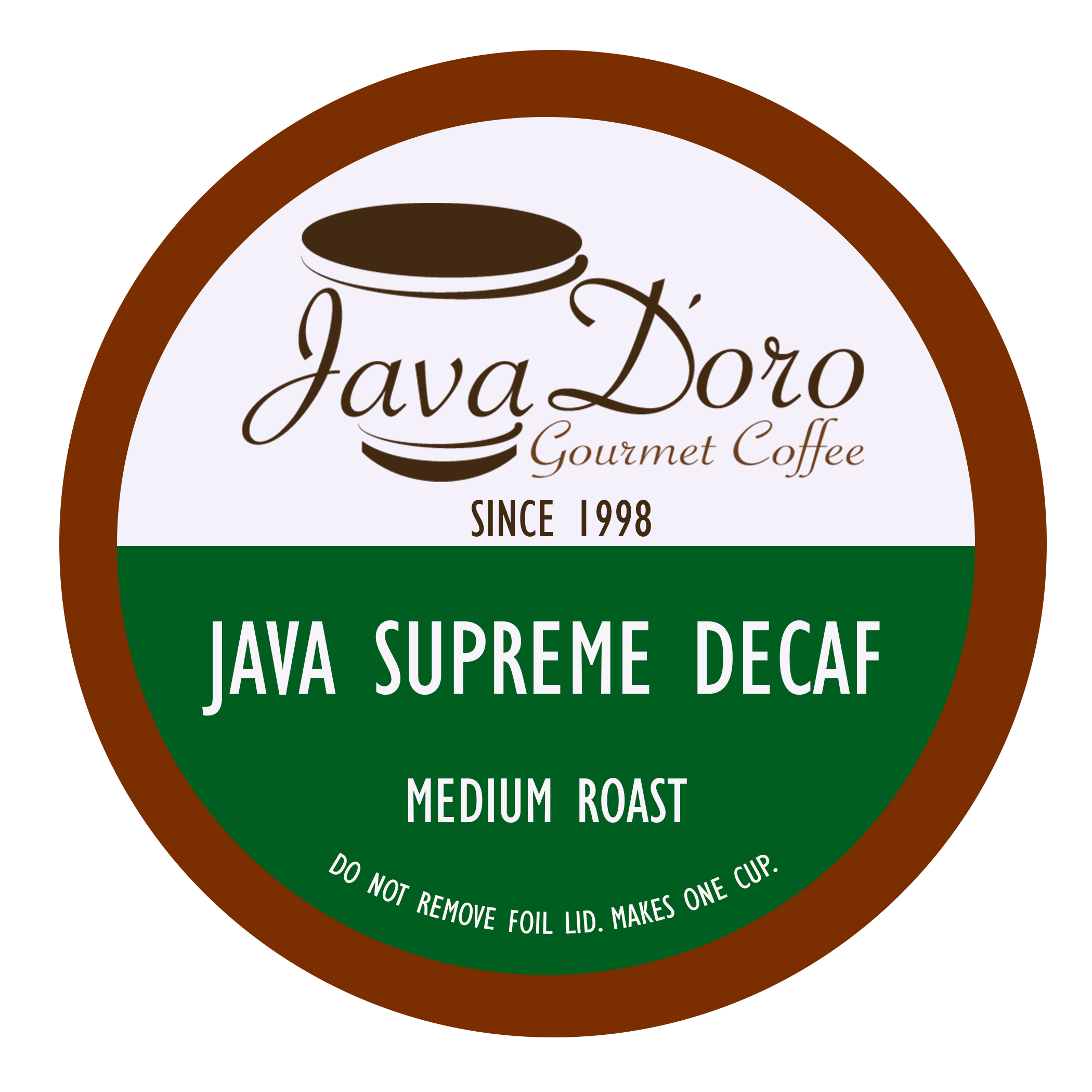 Java Supreme Decaf | Java D'oro Gourmet Coffee