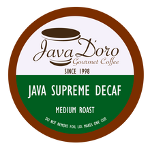 Load image into Gallery viewer, Java Supreme Decaf | Java D'oro Gourmet Coffee