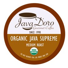 Load image into Gallery viewer, Organic Java Supreme Java D'oro Coffee Pods - 18 Count