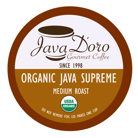 Organic Java Supreme Java D'oro Coffee Pods - 18 Count