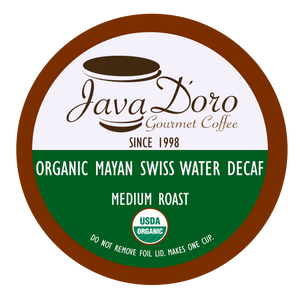 Organic Mayan Swiss Water Decaf Coffee Pods - 18 Count