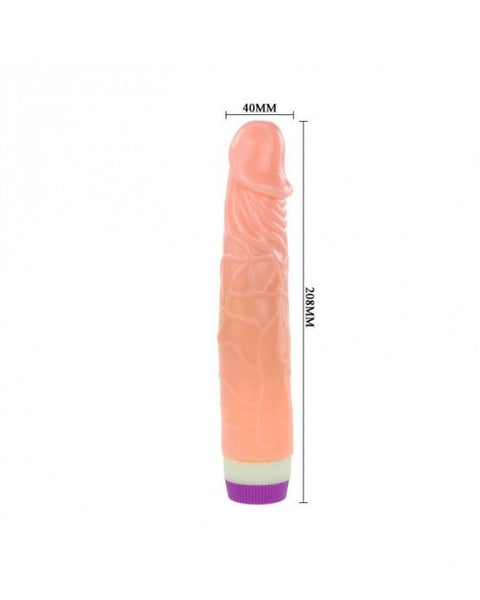 Rotation Realistic 7 Inch Vibrator Dildo - Flesh Color