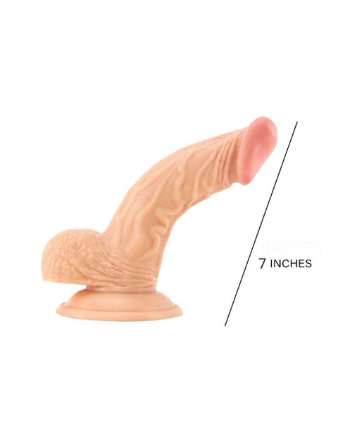 Curved real feel Dildo 7-Inch