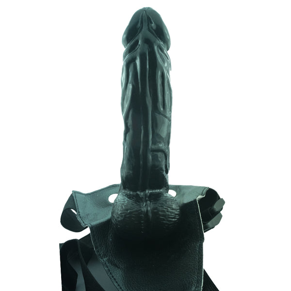 Hollow Negro Dildo Vibrator Strapon.