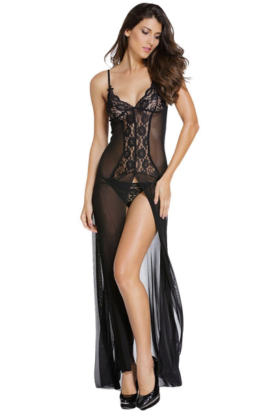 Black Sleek Night Gown