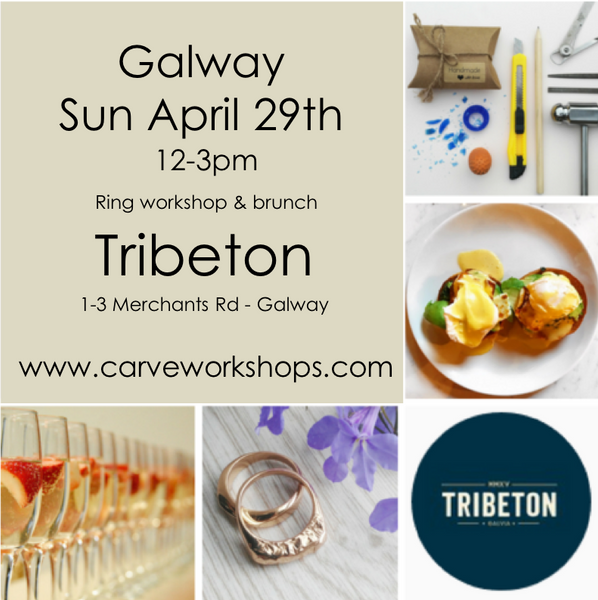 Carve @ Tribeton April 29th 12-3  (Workshop, lunch and prosecco-Ring additional - See description)