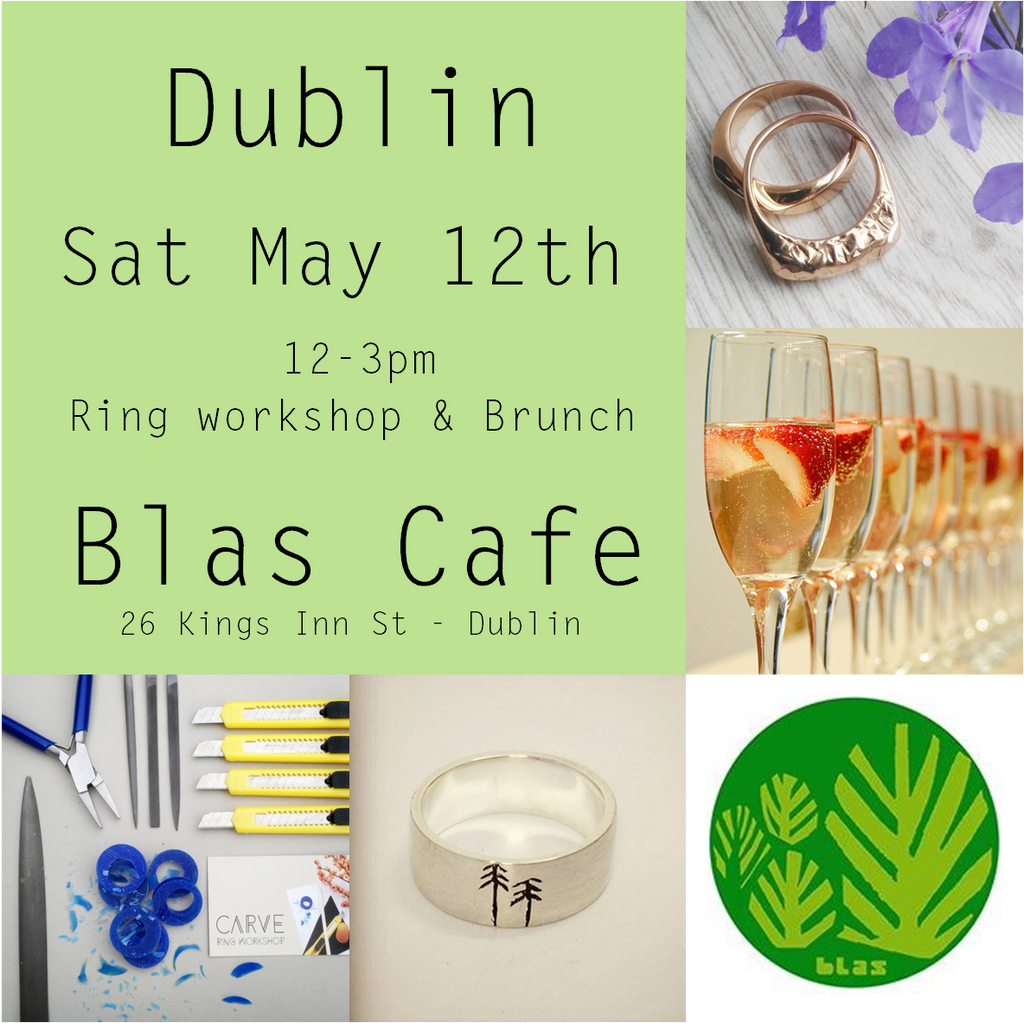 Carve @ Blas Cafe Sat May 12th 12-3  (Workshop, brunch & prosecco-Finished ring additional - See description)