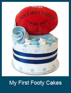 My First Footy Nappy Cakes