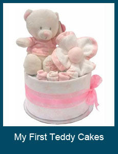 My First Teddy Nappy Cakes