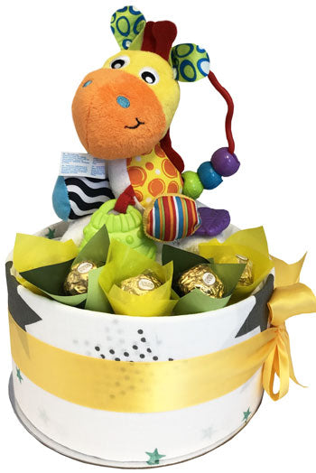 Featured Baby Gifts - Express Delivery Australia Wide! Nappy Cake Bubbalicious Korimco Activity Giraffe
