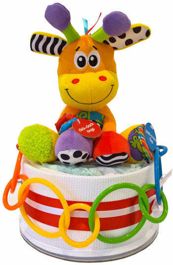 Nappy Cakes Play Time Korimco Activity Giraffe Unisex