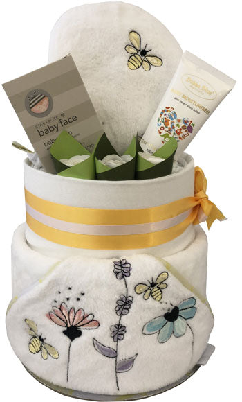 Nappy Cake Bath Time Deluxe Bumble Bee Gift