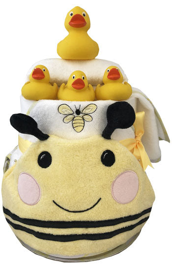 Nappy Cake Bath Time Deluxe Bumble Bee and Ducks Gift