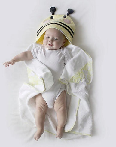 My Bath Time - Premium Bee Novelty Hooded Towel Set