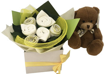 Baby Unisex Bouquet and brown bear