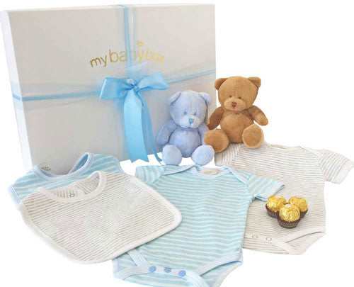 Twin Boy Baby Hamper - Bubzee Bears and clothing set