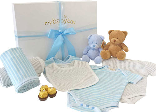 Twin Boys Luxury Baby Hamper, Bubzee Bears and Clothing Set