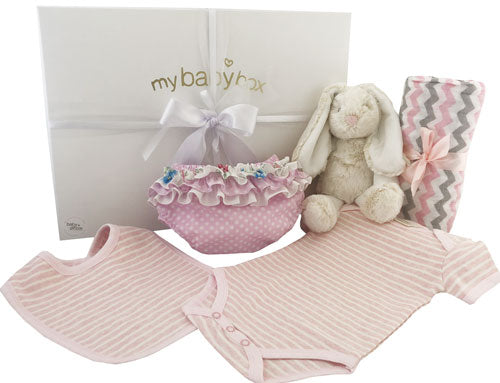 Baby Girl Personalised Hamper Bunny