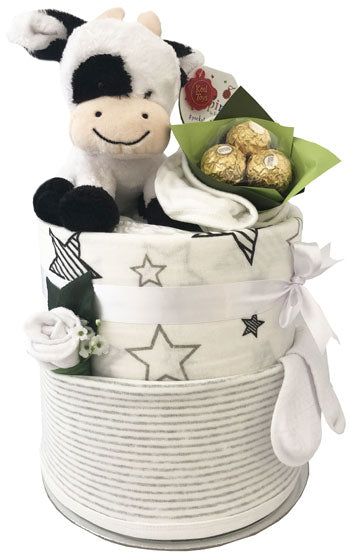 Nappy Cakes Unisex Pippins Cow Chocolates