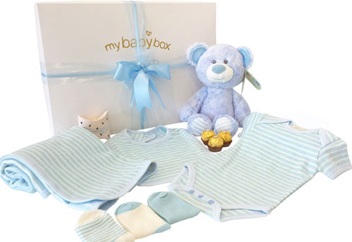 Baby Boy Deluxe Hamper with Snugem Teddy Bear