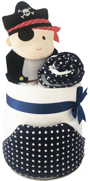 Nappy Cake Bath Time Deluxe Baby Pirate Boy Gift