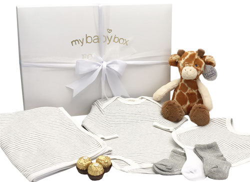 Baby Hamper - Unisex Clothing Set Bib, Blanket and Giraffe