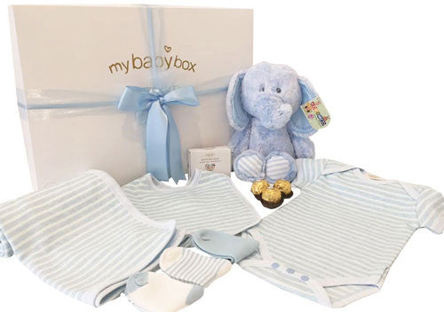 Baby Boy Hamper - Korimco Snugem Elephant and Baby Clothing Set