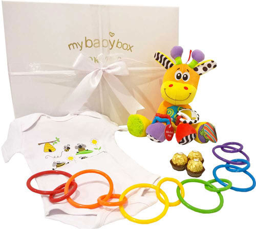 Baby Hamper Play Time - Korimco Activity Giraffe Play Rings