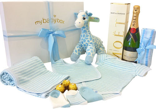 Luxury Gift Hamper Baby Boy and Moet