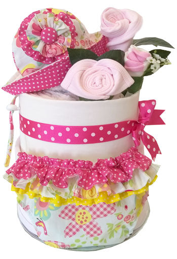 Nappy Cake Girl Spring Sun Hat and Ruffle Bloomers