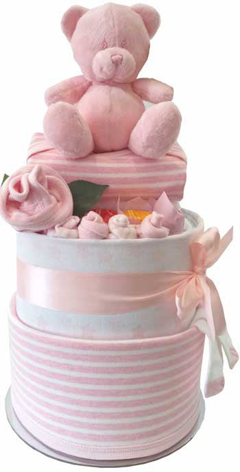 Nappy Cake First Wardrobe Grand Essentials Baby Girl