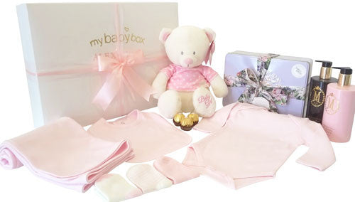 My First Teddy Baby Hamper and MOR pamper set